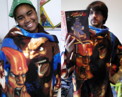street fighter snuggie slanket