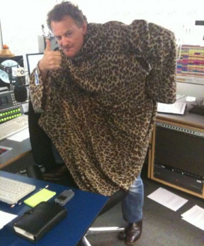 Hugh Bonneville in a Slanket